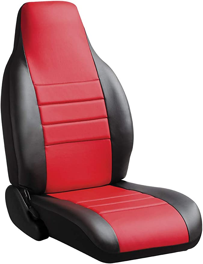 Pair Seat Covers Fiat 500 Tailored Liners Foderine only Front Red