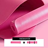 Mdck Pilates Mat,Single Pad Yoga Mats Thickened 10mm or 15mm Long 183cm Wide 61cm Dance Mats with Breathable Network Package