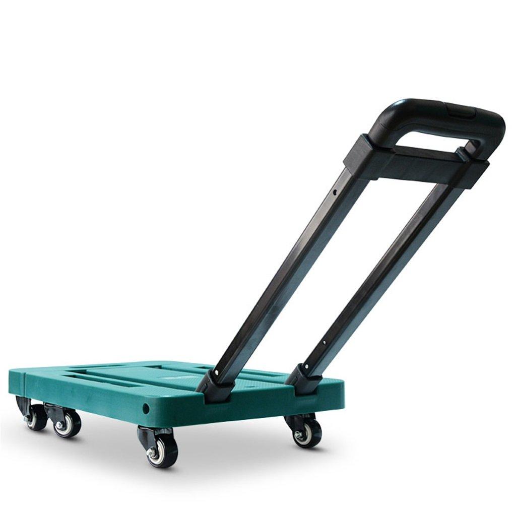 折り畳みポータブルトロリー小型カートは、トラック家庭Microtakeトロリーバンミニトレーラーハンドトラック4色を引っ張る 丈夫で持ち運びやすい (色 : A) B07FB86V7H A A