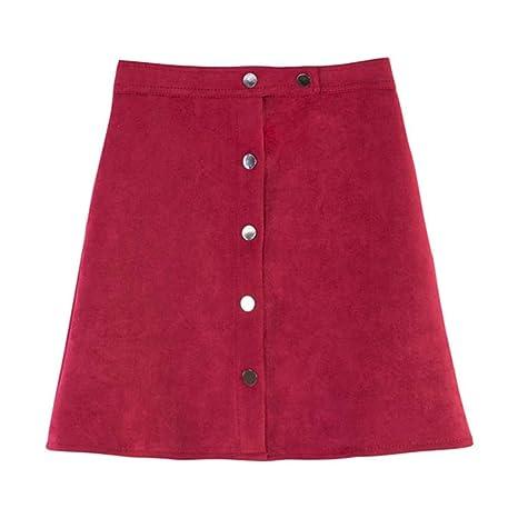 LLFUSM Falda Mujer Color Multi Falda Mini Falda Mujer otoño ...