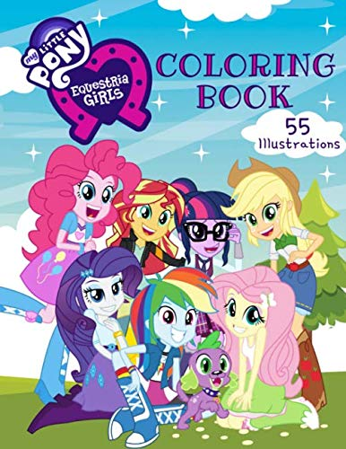 My Little Pony Equestria Girls Coloring Book: 55 Exclusive Illustrations.]()