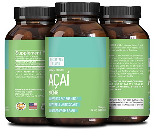 Pure Acai Berry Extract (Pure Acai Berry Extract to Boost Weight Loss and Energy Supplement – Detox Cleanse Antioxidant Capsules Anti-Aging Vitamins Support Heart Liver Kidneys Colon & Digestive System)