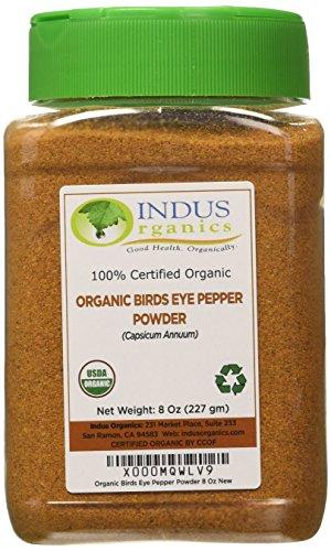 indus-organics-birds-eye-pepper-powder-8-oz-jar-steam-sterilized-premium-grade-high-purity-freshly-p