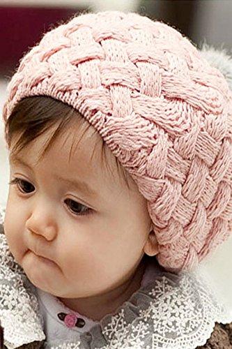 Generic Korea hair balls ice cream cap beret autumn and winter hat knitted baby hats baby cap children warm hat