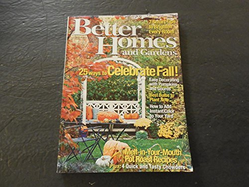 Better Homes and Gardens Oct 2006 Pumpkins And Gourds; Bulbs; Roast -