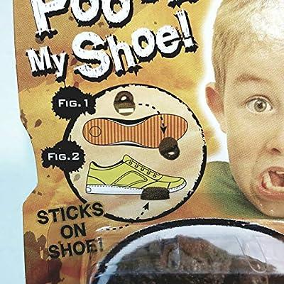 PRANKZ Fake Poo On My Shoe Realistic Looking Plastic Doo Doo Prank Novelty: Toys & Games