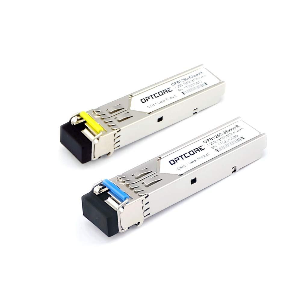 1 Pair OPTCORE 1G BiDi SFP 3km Transceiver Module, for Ubiquiti UF-SM-1G-S, TX:1310nm/RX:1550nm & TX:1310nm/RX:1550nm, LC, DOM OSP1250-353DCR-Pair-UBQ