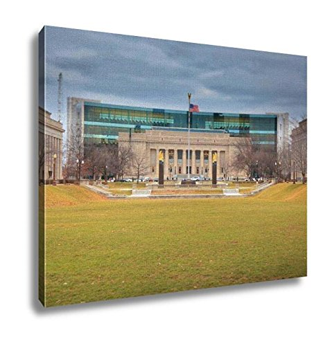 Ashley Canvas, Indiana Public Library In American Legion Mall Indianapolis, Kitchen Bedroom Dining Living Room Art, 24x30, - Indiana Indianapolis Malls