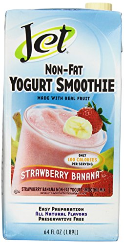 Jet Tea Strawberry Banana Non Fat Yogurt Smoothie 64 oz