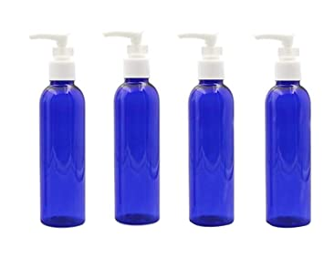 0e381d3e8bb2 6PCS 100ML 3.4 oz BPA Free Blue With White Pumps Empty Plastic Pump  Dispenser Jars Bottles Container For Bathroom Body Wash Lotion Shower  Liquid Soap ...