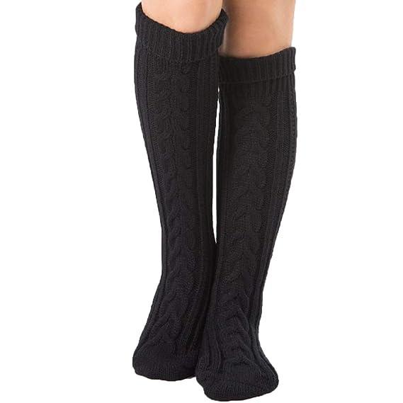 Faraw 1 par de calcetines largos más cálidos, calcetines de mujer con estiramiento alto sobre la rodilla para el frío invierno: Amazon.es: Ropa y accesorios