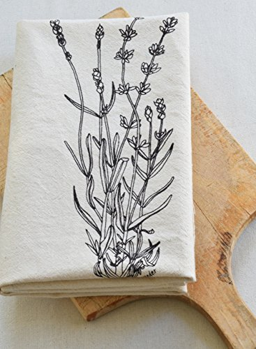 Lavender Flour Sack Towel in Deep Violet – Tea Towel – Kitchen Towel – Cotton Dishcloth