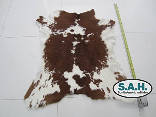 Brown U0026 White Calfskin Rug