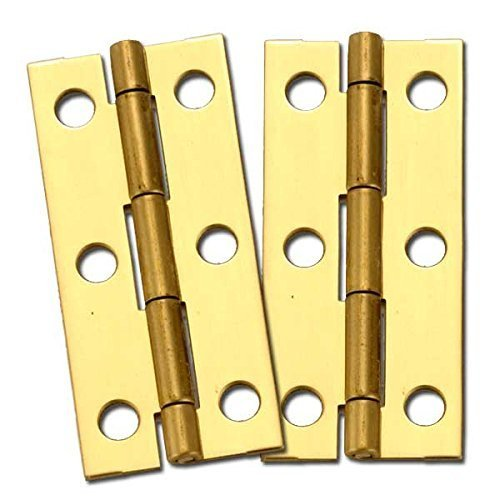 Stanley Solid Brass Miniature Narrow Hinge, 2-1/2