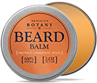 Beard & Mustache Balm / Oil / Wax / Leave In Conditioner 2 oz - 100% Natural, Soothes Itching - Thickens, Strengthens, Softens, Tames & Styles Facial Hair - Brooklyn Botany