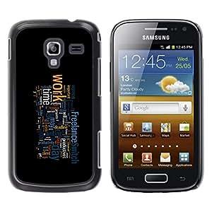 Caucho caso de Shell duro de la cubierta de accesorios de protección BY RAYDREAMMM - Samsung Galaxy Ace 2 - TIPOGRAFÍA TRABAJO