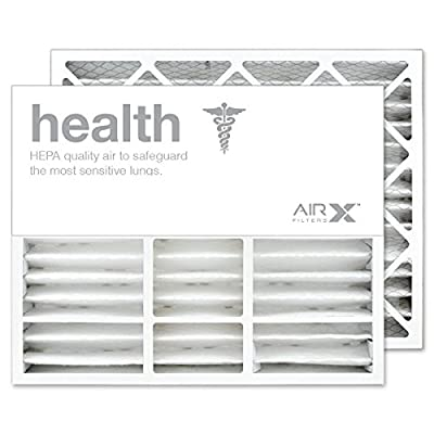 AIRx Filters Health 20x25x5 Air Filter MERV 13 Replacement for Honeywell FC100A1037 FC35A1027 CF200A1016 CF100A1037 to Fit Media Air Cleaner Cabinet F100F2010 F150E1034 F100B1032 F100F1038, 2-Pack