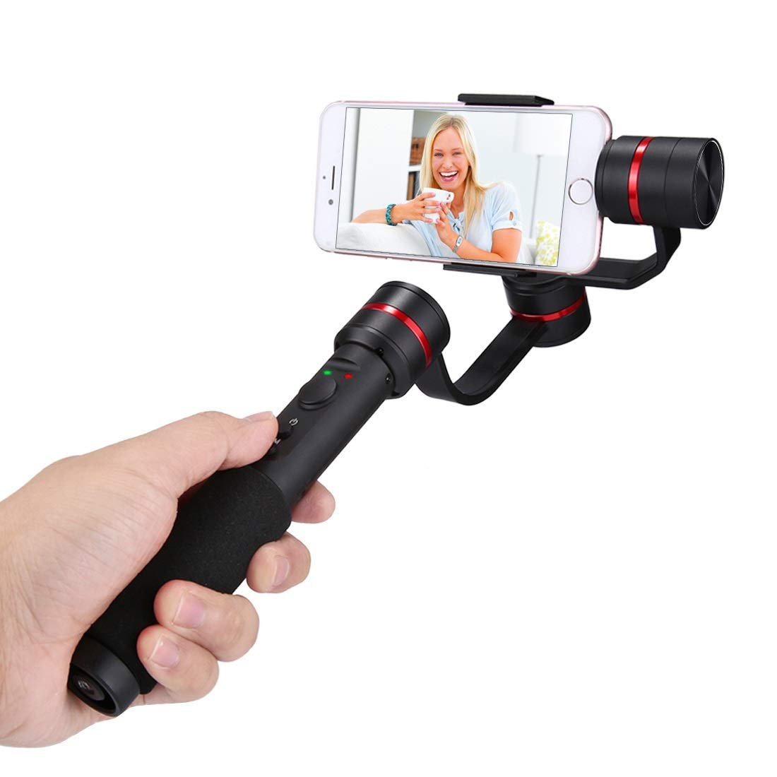 Camera Accessories G1 3-Axis Stabilizer Handheld Gimbal with Clamp Mount and Tripod Holder for 4.7-5.5 inch Smartphones(Red) for DJI (Color : Red) by LUQIN