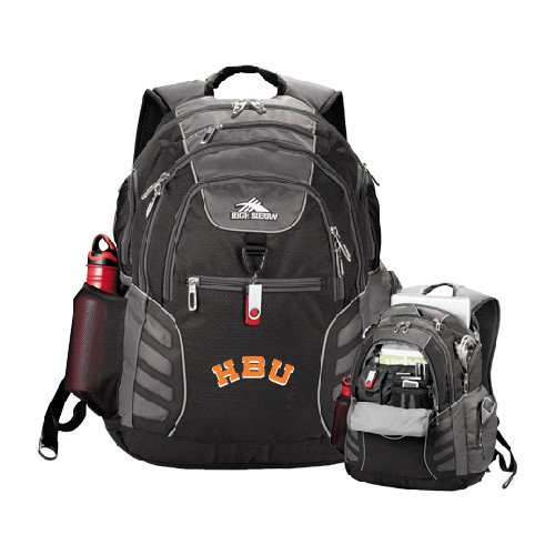 - CollegeFanGear Houston Baptist High Sierra Big Wig Black Compu Backpack 'HBU'