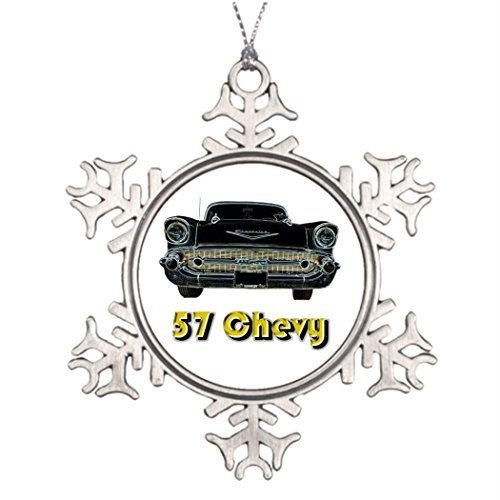 Valerie Xmas Trees Decorated 57 Chevy Photo Christmas Snowflake Ornaments 1957 Chevy Bel Air Photo