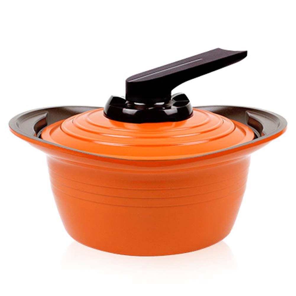 Roichen Non Stick Dutch Oven Pot, 7 inch, 1.9 Quart, Orange