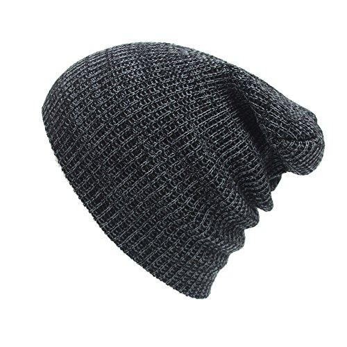 URIBAKE ❤ Fashion Unisex Baggy Beanies Knitted Crochet Ski Hat Winter Warm Braided Turban Headdress Cap ()