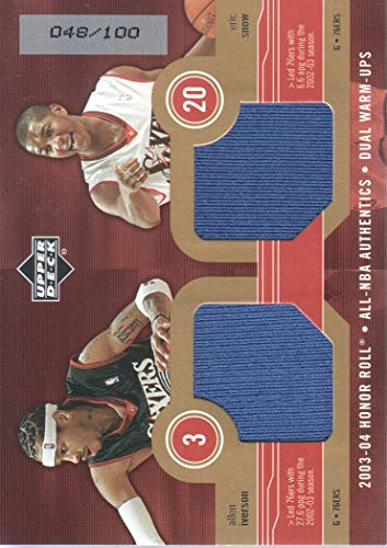 2003-04 Upper Deck Honor Roll Basketball Dual Warm Ups Gold #AI/ES Iverson/Snow 048/100 ()