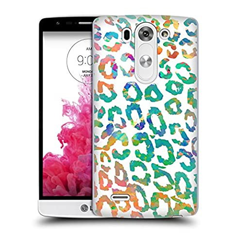 Official Amy Sia Aqua Leopard Animal Prints Hard Back Case for LG G3 S / G3 Beat / G3 Vigor (Lg G3 Vigor Leopard Phone Case)