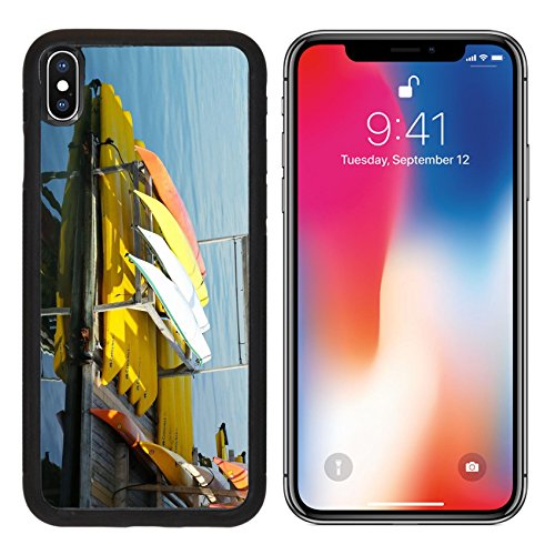 MSD Premium Apple iPhone X Aluminum Backplate Bumper Snap Case IMAGE ID 20802183 BAR HARBOR MAINE JULY 6 Sea kayaks ready for tourists in Bar Harbor on July 6 2013 - Harbor National Images