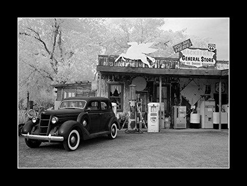 8 x 10のすべての木製額入りフォトRT 66 Gas Station 1930s   B078SJPNDF
