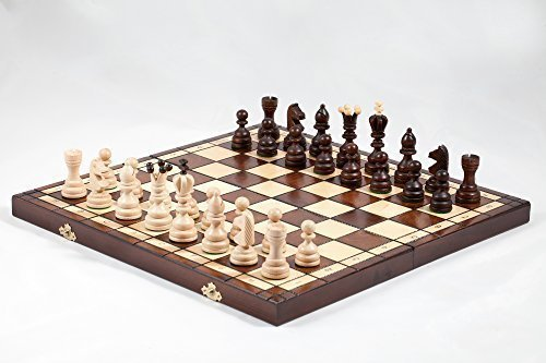 Fatti A Mano Di re Scacchiera In Legno 42cm x 42cm Prime Chess