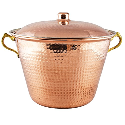 Copper Stockpot, Stewpot, Cookware, 11.40 inches, 1.2 mm Thick Copper Pot, Pan, Casserole Dish, Pot, Copperware, Chef, Healthiest Cooking, Kitchen Set, Healthy Casseroles