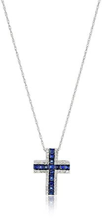 Amazon xpy blue diamond cross pendant necklace 18 xpy blue diamond cross pendant necklace 18 mozeypictures Choice Image