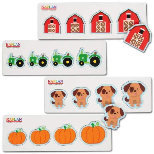 Size and Sequence Farm Puzzles - Set of 4 by Kaplan Early Learning Company