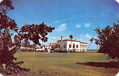 Delray Beach Florida Gulf Stream Country Club Vintage Postcard - Stores Beach Delray