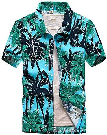 Rincr Camisa Hawaiana de Manga Corta para Hombre de Moda Secado rápido Tallas Grandes Talla asiática M-5XL Camisas de Playa Florales Ocasionales de Verano para Hombres: Amazon.es: Deportes y aire libre