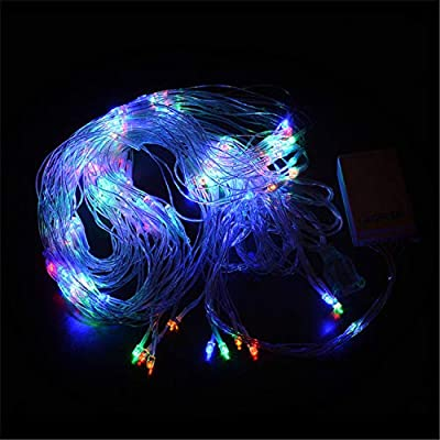BABIFIS LED Fish Net Light 22M Waterfall Light Outdoor Waterproof Christmas Decoration Peacock Net Light,Multicolor
