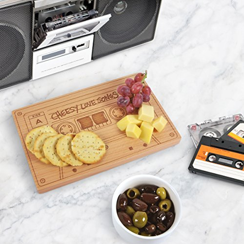 A cheesy board for appetizers and snacks