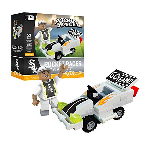 (Chicago White Sox OYO Sports Toys Pocket Racer Set with Minifigure 53PCS)