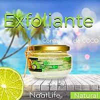 Exfoliante de aceite de coco y sal de mar con extracto de limon