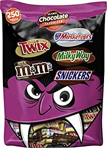 M&M's MARS Chocolate Favorites Halloween Candy Bars 250 Piece Variety Mix, 96.2 Ounce