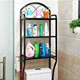 DIDIDD Shelf-Hwf Bathroom Shelves Shelf Toilet Shelves Bathroom Racks Floor Washing Machine Storage Rack,Black