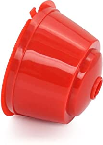 6 Pack Dolce Gusto Refillable Coffee Capsules Reusable Holder Pod Compatible with Mini Me, Genio, Piccolo, Esperta and Circolo (red)
