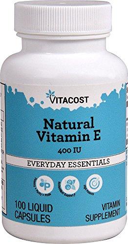 Vitacost Natural Vitamin E -- 400 IU - 100 Liquid Capsules