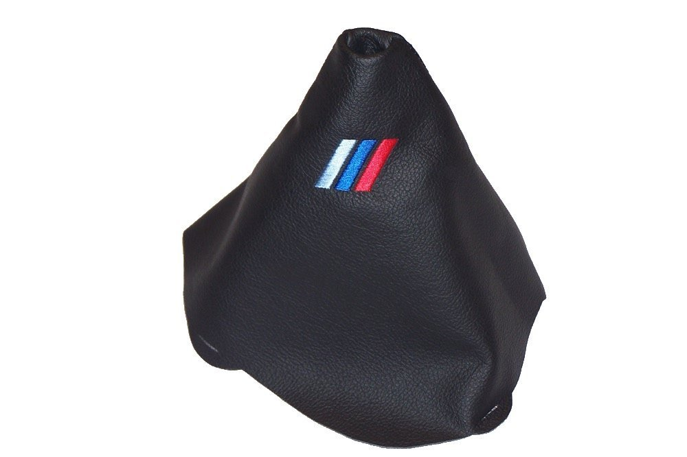 2012/Manuelle Schaltsack schwarz Leder MPOWER Logo Stickerei F/ür BMW 1/Series E81/E82/E87/E88/2007