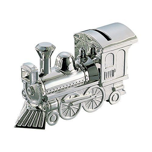 Creative Gifts Train Bank, Nickel Plated. (Engravable Train)