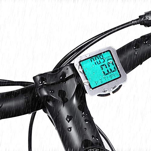 Bike Computer for Cycling, 1 Pcs Waterproof Bicycle Wired Speedometer Lightweight MPH Motorcycle Trip Odometer for Travelling, Riding, Cycling Computers, White by Meanhoo