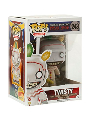 Funko Pop! TV: American Horror Story- Season 4 – Twisty the Clown Vinyl Figure (Bundled with Pop BOX PROTECTOR CASE)