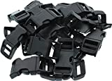 "50 PACK - 1/2"" Contoured Side Release Buckles by Army Universe - Black"