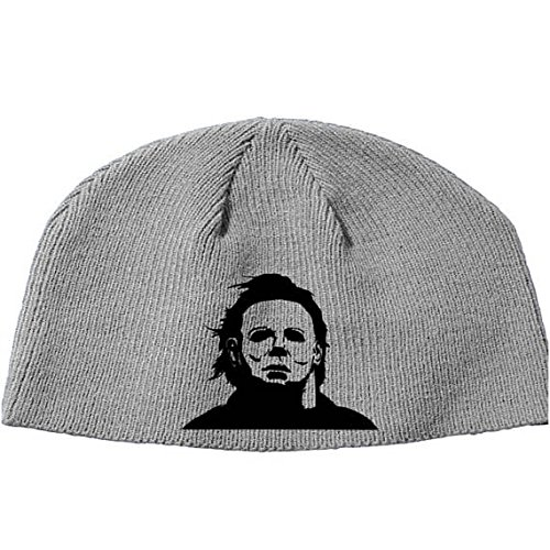 Merch Massacre Halloween Michael Myers John Carpenter Shape Boogie Man Beanie Knitted Hat Cap Winter Clothes Horror Christmas Black Friday (Gray)]()
